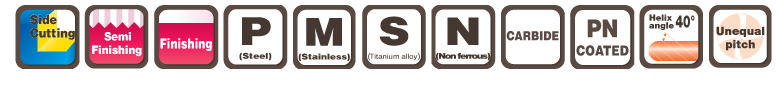 END MILLS - EPOCH SUS MULTI-MEDIUM EPSMM4-PN MOLDINO