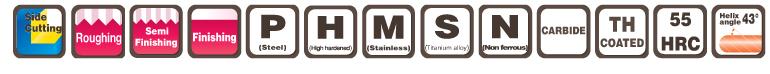 END MILLS - EPOCH TH POWER MILL EPPM4-TH MOLDINO