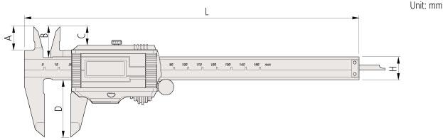 500-Super-Caliper-Mitutoyo-Dimension