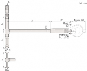 511-with-micrometer-head-Mitutoyo-Dimension
