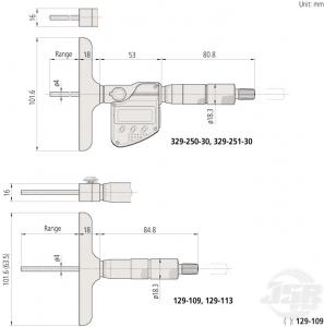 Depth-Micrometer-Interchangeable-Rod-Type