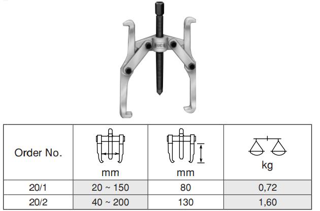 2 Arm Puller เหล็กดูดมู่เล่ 2 ขา BUCO table