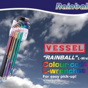 """VESSEL """"RAINBALL"""" L-Wrenches"""