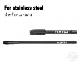 Pointed tap for stainless steel