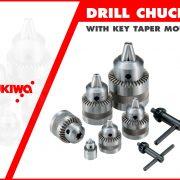 DRILL CHUCKS WITH KEY TAPER MOUNT