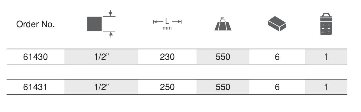 "Reversible Ratchet Handle 1/2"" ด้ามฟรี EGA MASTER table"