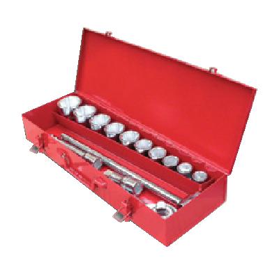 "Kit Of 14 Socket Wrenches (3/4"") ประแจบ๊อกชุดรู 3/4"" - 6เหลี่ยม EGA MASTER"
