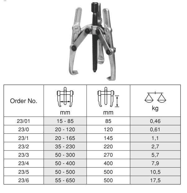 Mechanical 3 Arm Pullers เหล็กดูดมู่เล่ 3 ขา BUCO Table