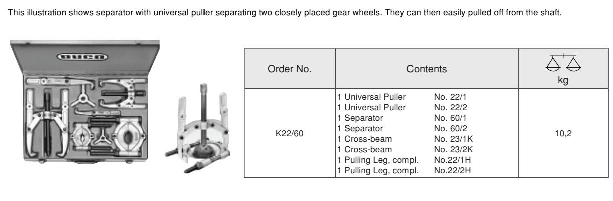 Universal Set (in metal cases) เหล็กดูดมู่เล่ เป็นชุดอเนกประสงค์บรรจุกล่องเหล็ก BUCO Table
