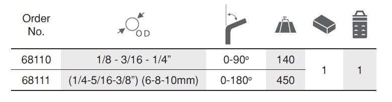 Tube Bender ตัวดัดท่อทองแดง Ega Master table