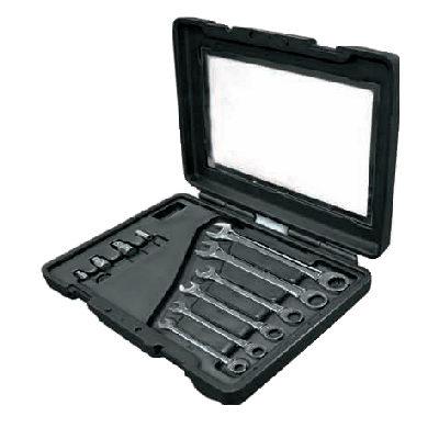 ประแจปากตายแหวนข้างฟรีชุด (นิ้ว) Mastergear Combination Ratchet Wrench Set (inch) Ega Master