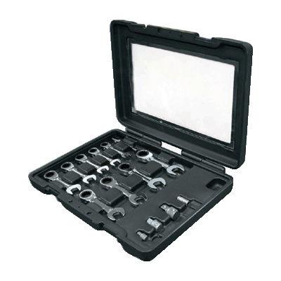 ประแจปากตายแหวนข้างฟรี 10 อันชุด (สั้นม มิล) Stubby Mastergear Combination Ratchet Wrench Set Ega Master JSR GROUP