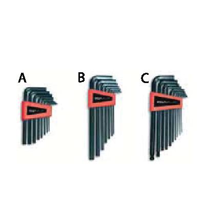 ประแจแอลหกเหลี่ยมสีดำชุด Kit Of Hexagonal Key Wrenches Ega Master JSR GROUP