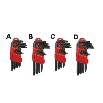 ประแจแอลหกเหลี่ยมสีดำาชุด Kit Of Hexagonal Key Wrenches