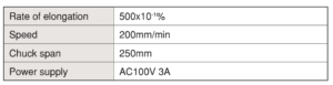 Elongation Testing Equipment เครื่องทดสอบการยืดตัว IMADA SEISAKUSHO table