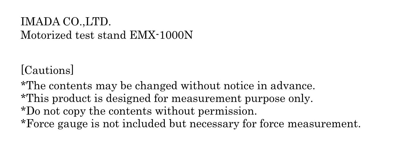 เครื่องมือวัดละเอียด EMX-1000N