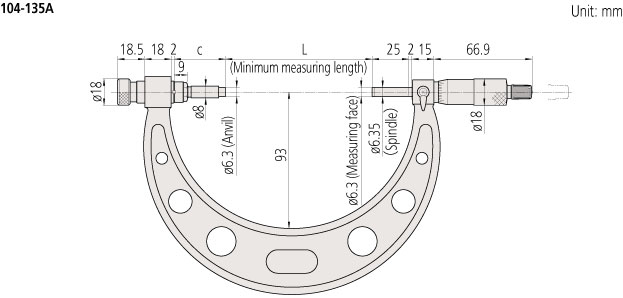 Outside micrometer