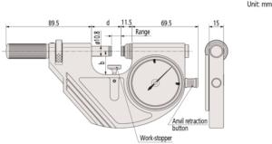 Dial-snap-meters Mitutoyo