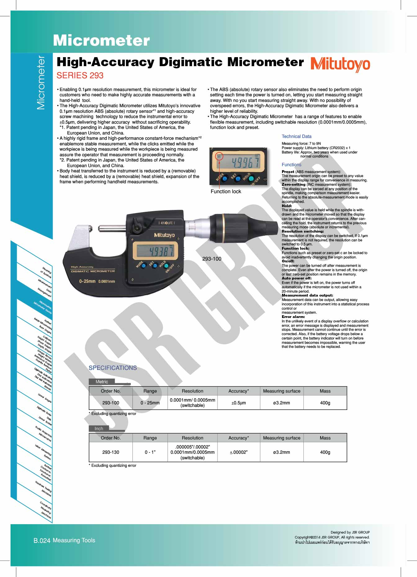 High-Accuracy-Digimatic-Micrometer