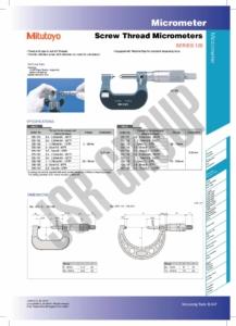 Screw Thread Micrometers SERIES 125 Mitutoyo table