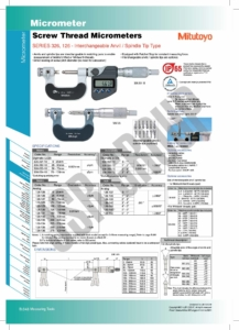 Screw Thread Micrometers SERIES 326,126 Mitutoyo table
