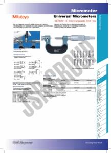 Universal Micrometers SERIES 116 Mitutoyo table