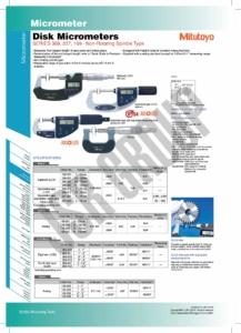 Disk Micrometers SERIES 369,227,169 Mitutoyo 1 table