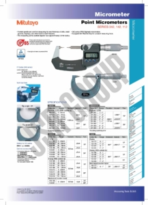 Point Micrometers SERIES 342,142,112 Mitutoyo
