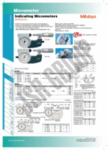 Indicating Micrometers SERIES 510 Mitutoyo table