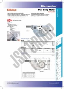 Dial Snap Meter SERIES 523,121 Mitutoyo table