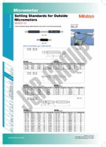 Setting Standards for Outside Micrometer SERIES 167 Mitutoyo 1 table