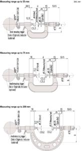 107-Idicator type Micrometer-Dimension