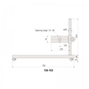 156-103-Mitutoyo-Dimension Micrometer Stand