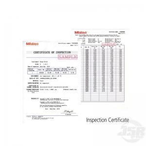 Inspection-Certificate Gauge Block Mitutoyo